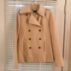 J. Crew cream colored pea coat, size small